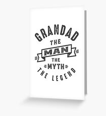 Grandad The Myth Greeting Card