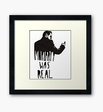 moriarty is a real Framed Print
