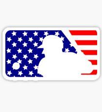 MLB Logo - Stars and Stripes Sticker
