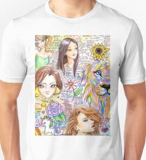 Crazy Doodles Pretty Words Unisex T-Shirt
