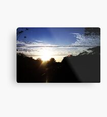 Sunset from inside a cab Metal Print