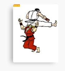 Street Fighter ryu ken sticker Canvas Print