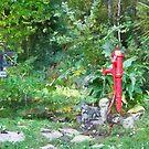 Sensory garden water feature, Blackwater Village, Co. Wexford, Ireland by David Carton