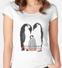 Welcome to Antarctica, Penguins Women's Fitted Scoop T-Shirt