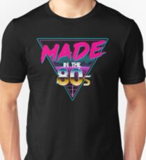 Made in The 80s - Born in Eighties retro Neon Grid Slim Fit T-Shirt