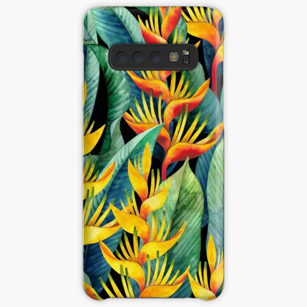Watercolor heliconia Case & Skin for Samsung Galaxy