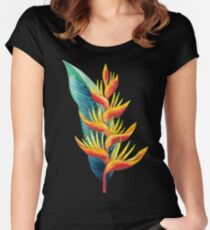 Watercolor heliconia Women's Fitted Scoop T-Shirt