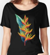 Watercolor heliconia Women's Relaxed Fit T-Shirt
