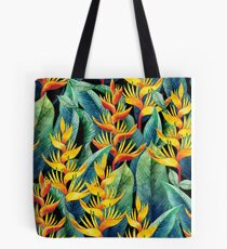 Watercolor heliconia Tote Bag
