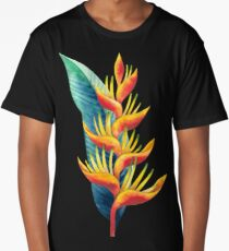 Watercolor heliconia Long T-Shirt