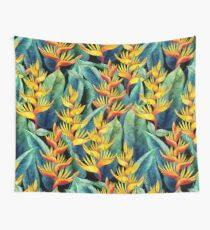 Watercolor heliconia Wall Tapestry
