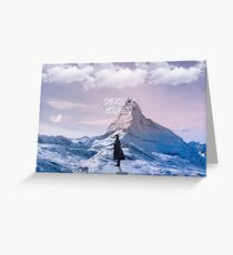 Sherlock- Mountaintop  Greeting Card