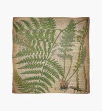 vintage foliage hipster botanical print fern leaves Scarf