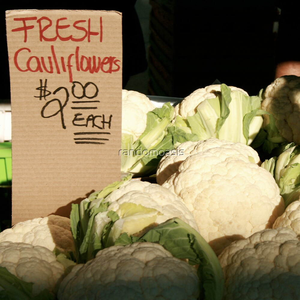 Fresh Cauliflowers by randomoasis