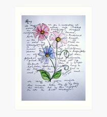 Flower-poetry Art Print