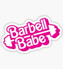 Barbell Babe Doll Logo Sticker