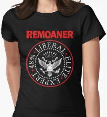 Remoaner Black Womens Fitted T-Shirt