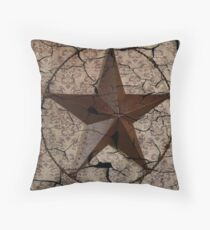 vintage damask rustic western country  texas lone star Throw Pillow