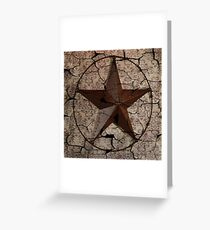 vintage damask rustic western country  texas lone star Greeting Card