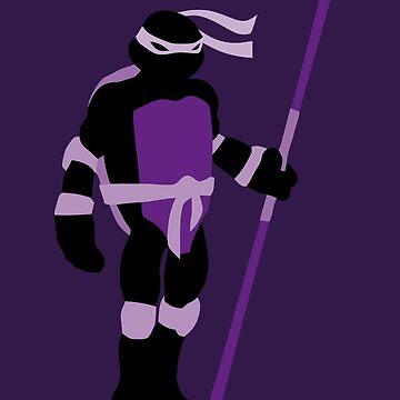TMNT SILHOUETTES - Classic Donatello by miztak