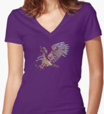 Eagle, from the AlphaPod collection Women's Fitted V-Neck T-Shirt
