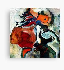 Orange Abstract Painting / Surrealist Art Canvas Print