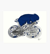 The Cyclists Art Print
