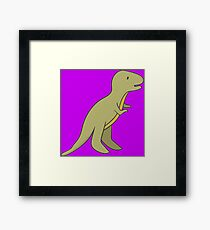 CUTE AND AWESOME BABY T-REX (TYRANNOSAURUS) Framed Print