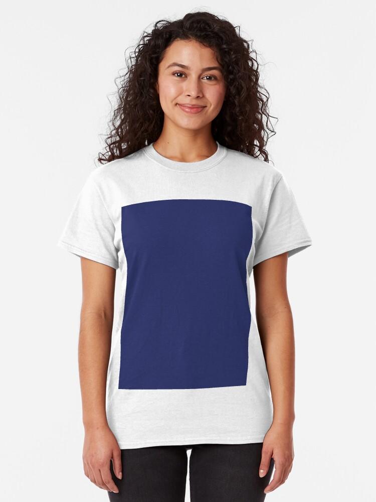 Vista alternativa de Camiseta clásica moderno con playas preppy náutico azul marino