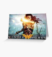 Super Hero Wonder Women  Greeting Card