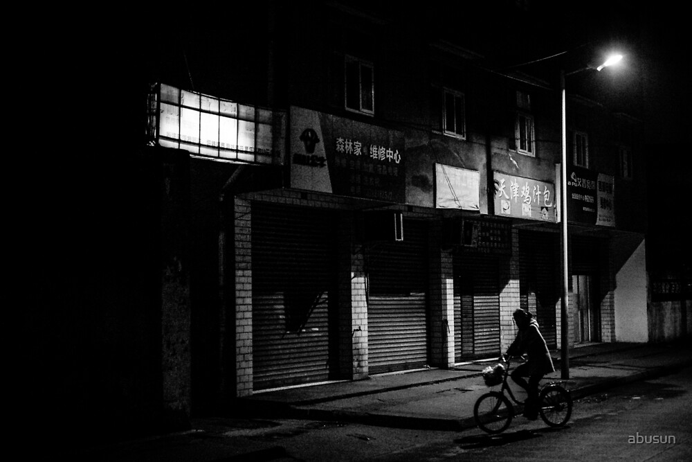 Bicycle in the night by abusun