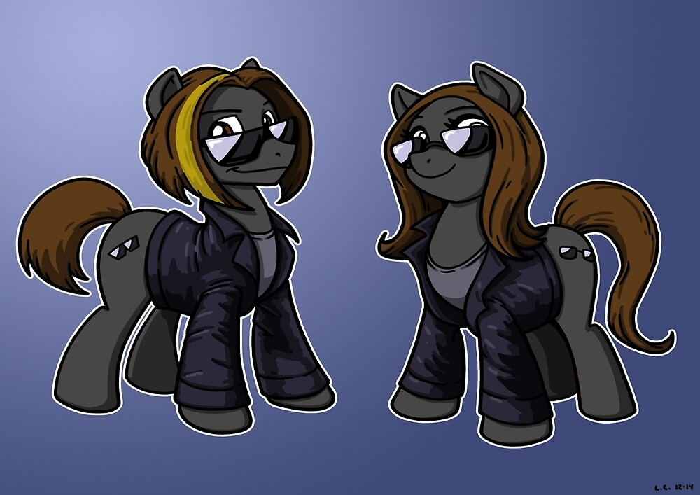 Shady Ponies Poster by BaronVonRosco