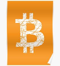 Bitcoin Currency Symbol Poster