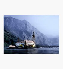 Castle in the lake Photographic Print