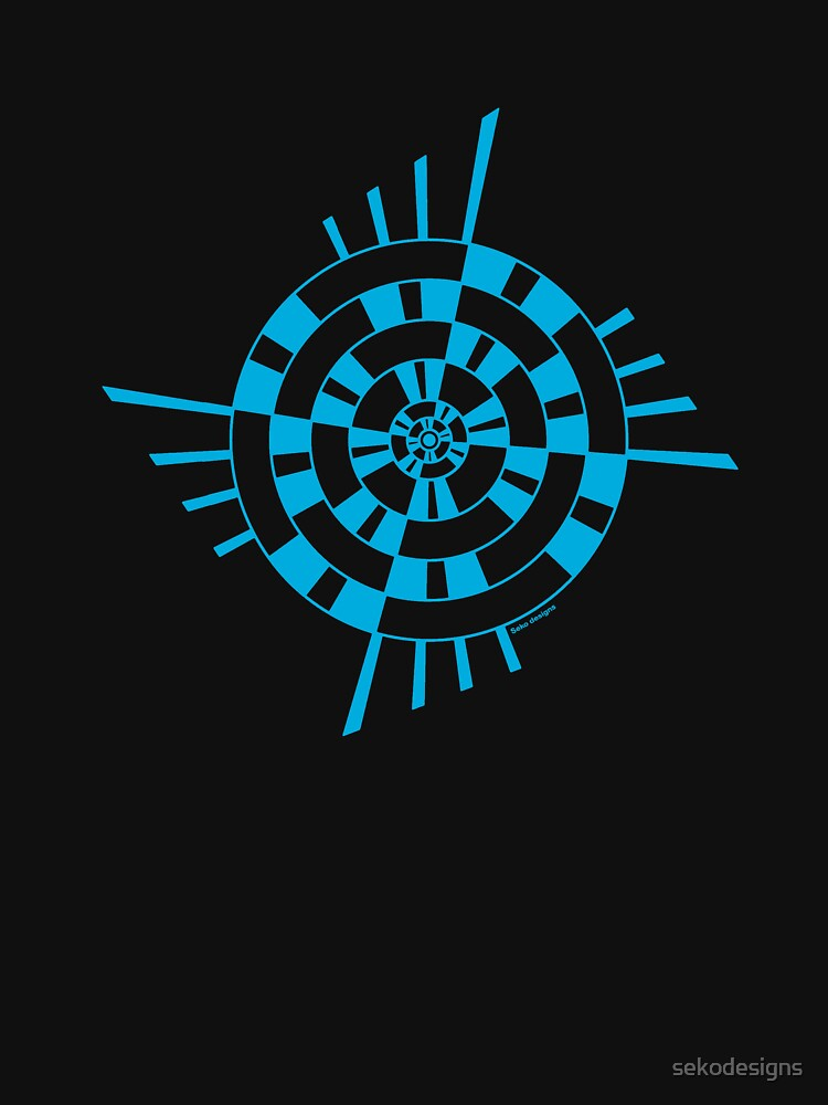 Mandala 1 Into The Blue  by sekodesigns