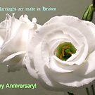 Peony Roses Wedding Anniversary Card von BlueMoonRose