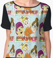 Rough Giraffe  Women's Chiffon Top