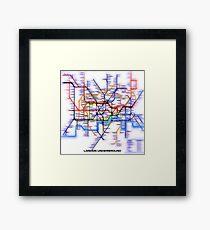 London Underground Tube Framed Print