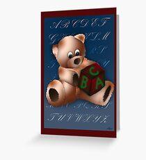 ABC Teddy Greeting Card