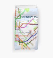 NYC Subway Map Duvet Cover