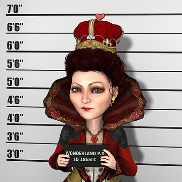 Red Queen Mugshot by 2HivelysArt
