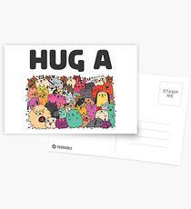 Hug a dog Postcards