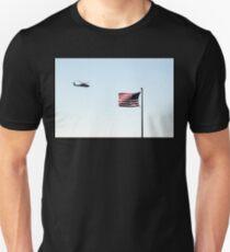 USA Flag Helicopter Unisex T-Shirt