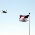 USA Flag Helicopter by Henrik Lehnerer