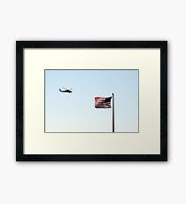 USA Flag Helicopter Framed Print