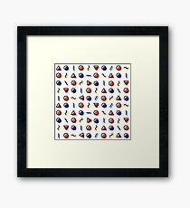 Simplex Coloured Framed Print