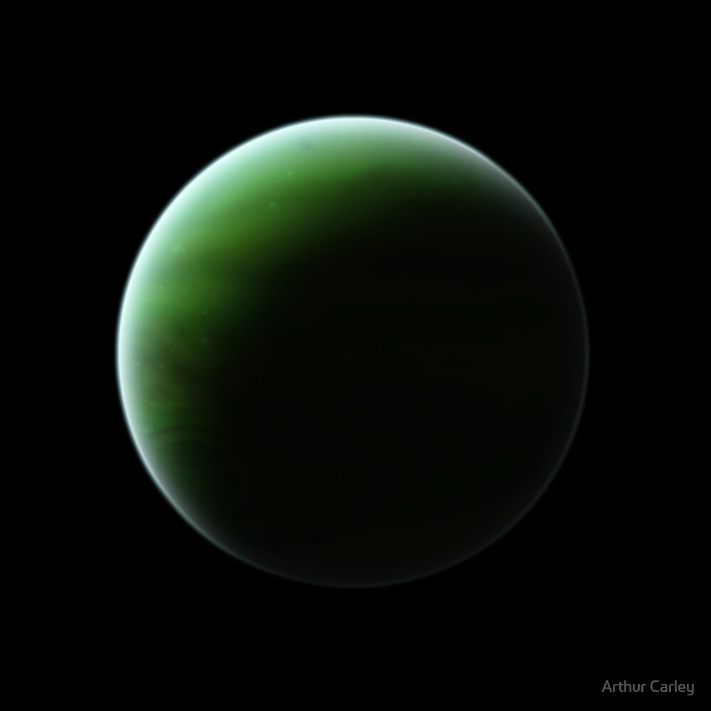 Green gas Giant by Arthur Carley