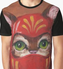 Daruma Kitty Painting Graphic T-Shirt