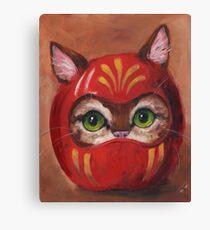 Daruma Kitty Painting Canvas Print