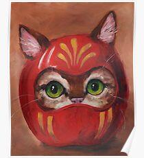 Daruma Kitty Painting Poster